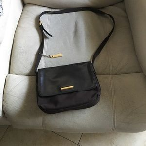 Brown with leather nine West crossbody